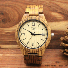 Fashion wooden Watch with Japanese Movements