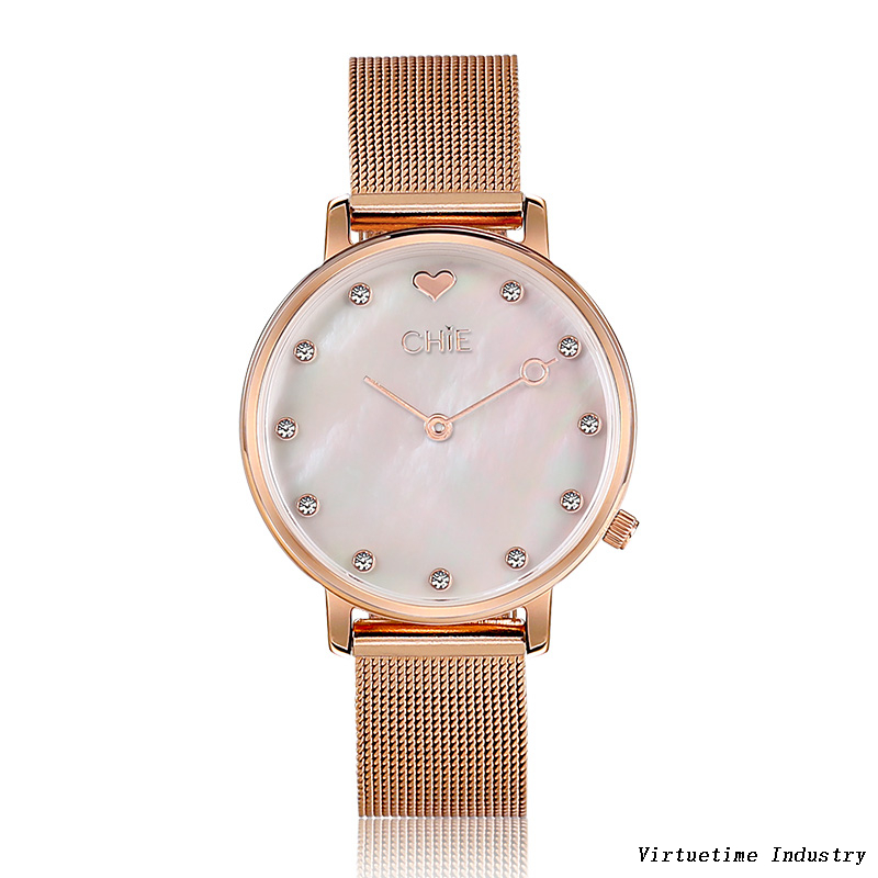 Woman's Quartz Watch with Stainless Steel Strap
