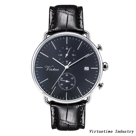 Top selling stainless steel quartz movement watch